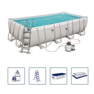 PISCINE Bestway Jeu de piscine rectangulaire Power Steel 5