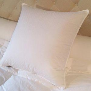 OREILLER Oreiller 90% duvet neuf 60x60 cm jacquard blanc