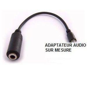 CÂBLE TV - VIDÉO - SON ozzzo câble adaptateur audio jack 3,5 mm pour blac