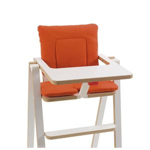 supaflat coussin de chaise haute pumpkin pie orange achat vente chaise haute 9120059490667. Black Bedroom Furniture Sets. Home Design Ideas