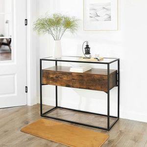 MEUBLE D'ENTRÉE VASAGLE Table d'entrée,Table de Console, 100 x 40