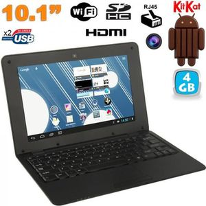 NETBOOK Mini PC Android netbook 10 pouces WiFi 4 Go Noir