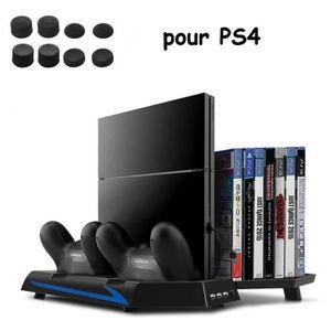 DOCK DE CHARGE MANETTE PS4 Ventilateur de Support Vertical avec Manettes
