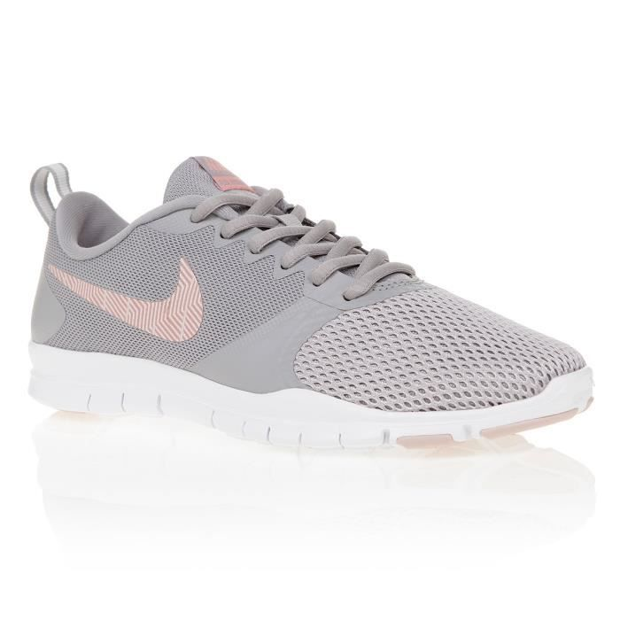 NIKE Baskets Flex Essential Tr Femme Gris et rose