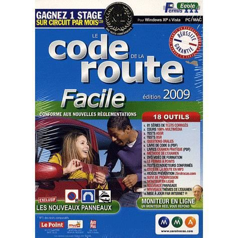 le code de la route facile edition 2009 logiciel achat vente jeu pc le code de la route. Black Bedroom Furniture Sets. Home Design Ideas