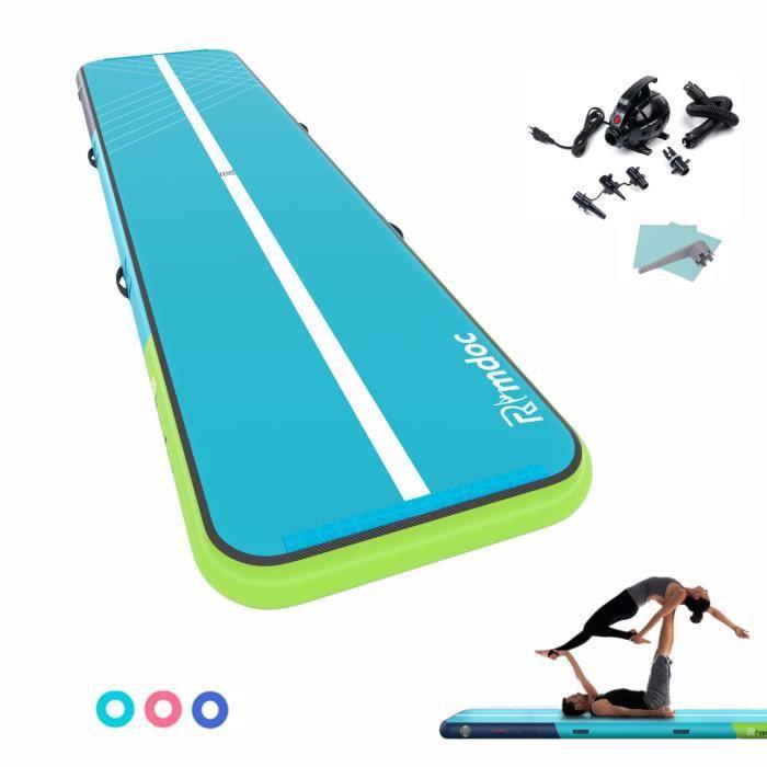5 x 1.2 x 0.2M Airtrack Tapis de gymnastique gonflable Tapis de sol ACROBATICS TRACK Tapis de protection sport