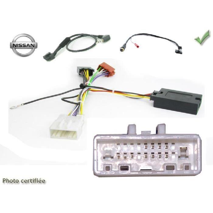 Interface Commande au volant NS1J compatible Nissan ap07 JVC