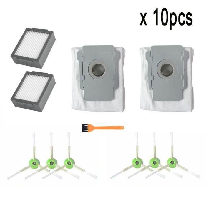 zh10pcs - Kit de remplacement pour aspirateur Robot iRobot Roomba i7 E5 E6 série I, sac à poussière, brosse r
