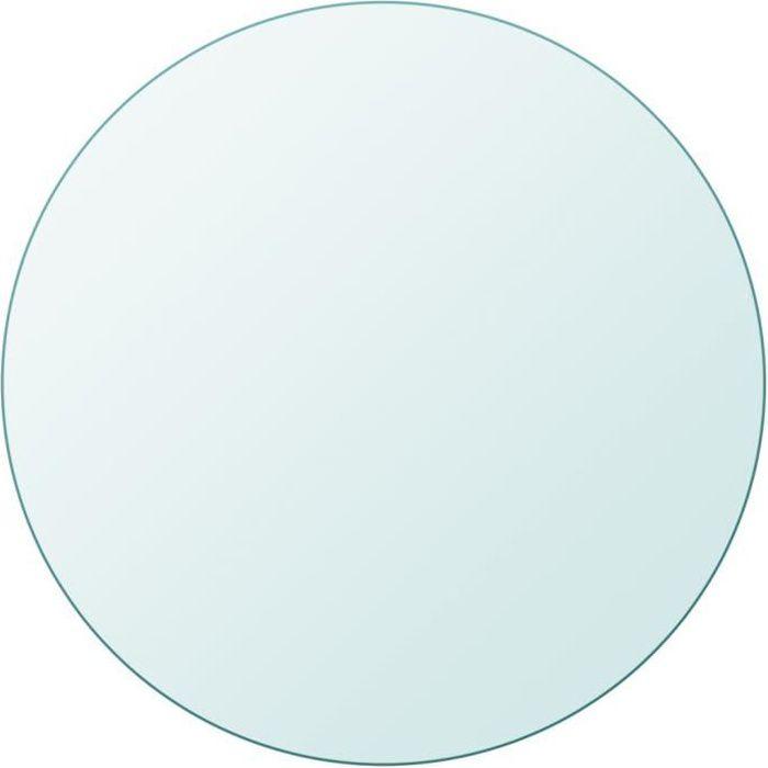 Plateaux de table Dessus de table ronde en verre trempe 400 mm