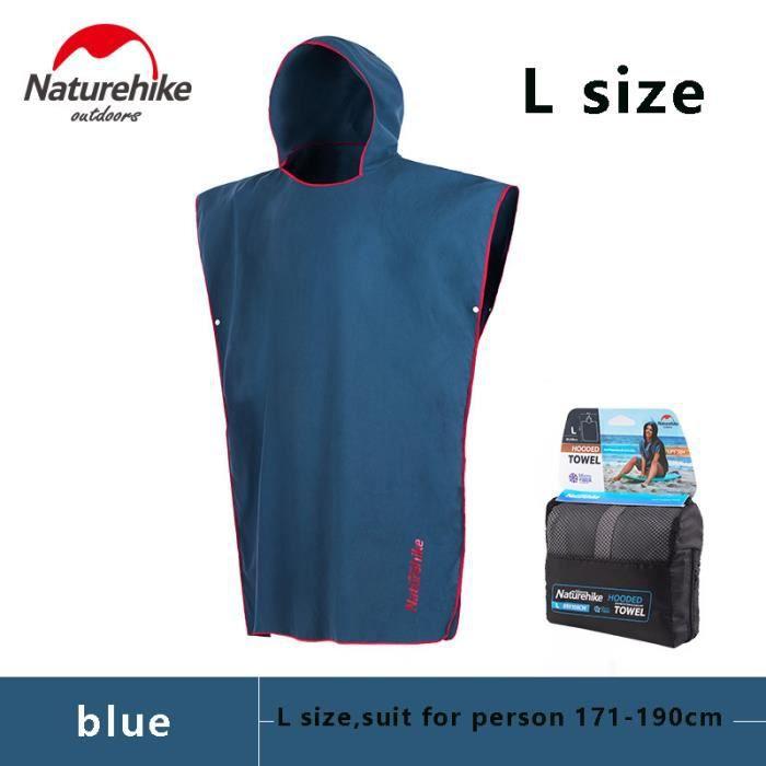 Naturetrekking extérieur plage Robe à langer serviette de bain adulte à capuche serviette de p - Modèle: L size blue - TEYYMJA06234