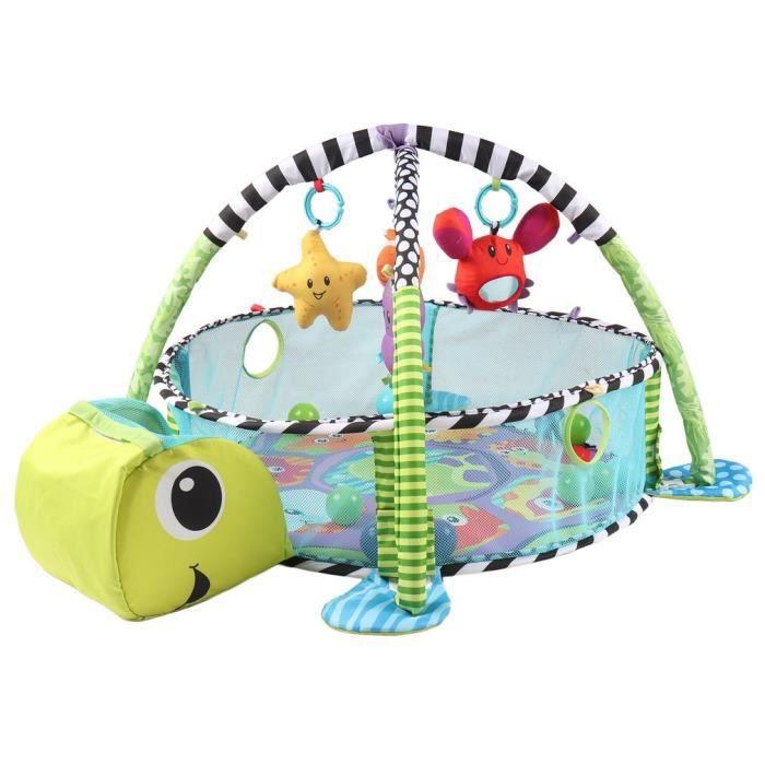 Tapis d'éveil bébé confortables coloré - Tortue - 95cm x 67cm x 52cm