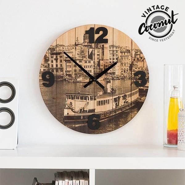 Horloge Murale Villes Vintage Coconut