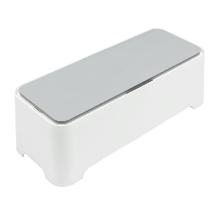 Boîte de Rangement Rectangulaire pour Câbles Allibert 220046 E-Box Polypropylène Blanc/Gris 36,79 x 14,7 x 12,6 cm
