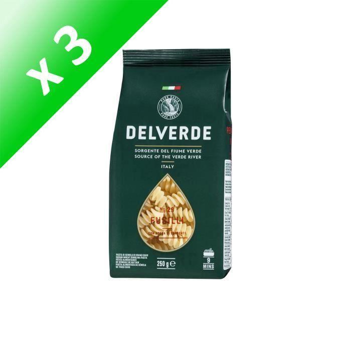 [LOT DE 3] DELVERDE New Fusilli - 250 g
