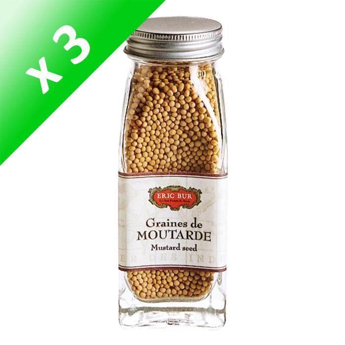 [LOT DE 3] ERIC BUR Epices Graines De Moutarde - 68g