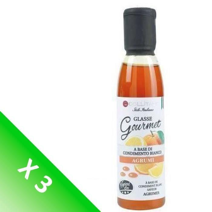 [LOT DE 3] COLLITALI Crème de vin naturelle aigre douce aux Agrumes 180 g / 150 ml
