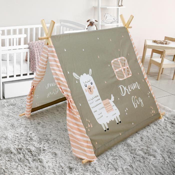 Tente de tipi gris chaud intérieur exterieur tente de jeu classique pour enfants