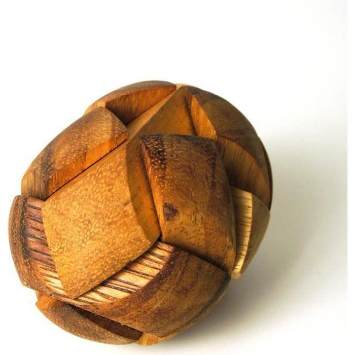 Casse-tête en bois - Le Ballon de Rugby - ( Complexité: 2-5 )