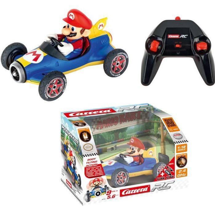 Voiture radiocommandée Mario Kart(TM) Mach 8 - Mario - Carrera RC