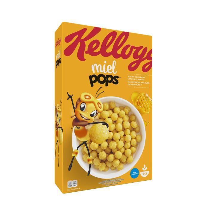 KELLOGG'S Céréales miel pops - 400 g