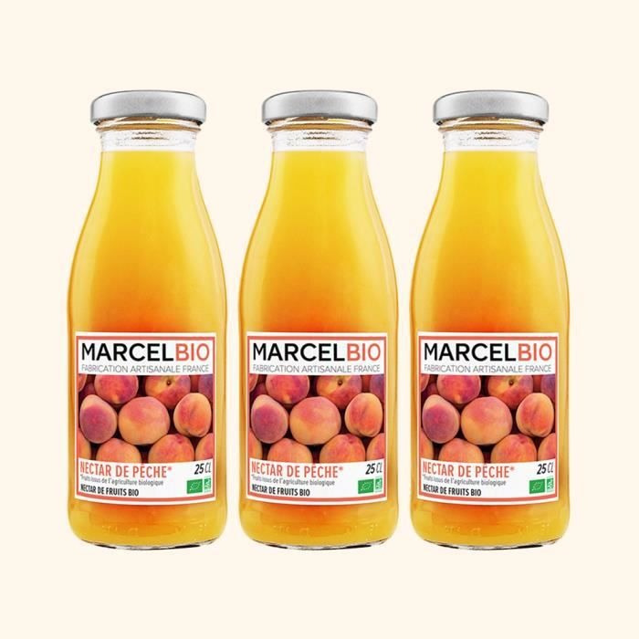 Marcel Bio - Nectar de Pêche Bio 25cl - Pack de 3