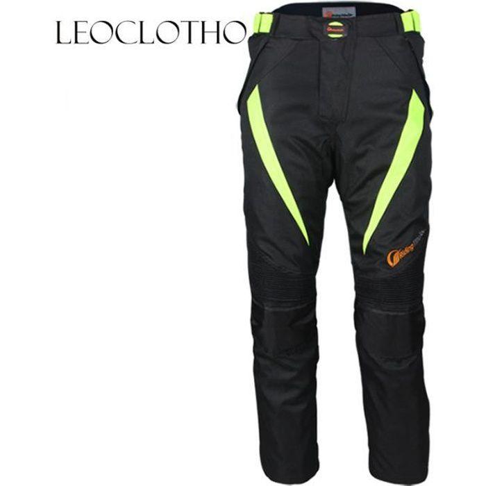 LEOCLOTHO-Pantalon de moto d'hiver unisexe anti-chute imperméable de cyclisme course racing