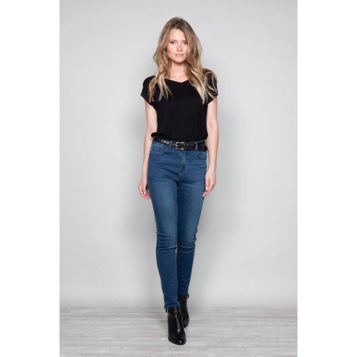 Jean slim taille haute LENNY - Couleur - Blue Denim, Taille - 34