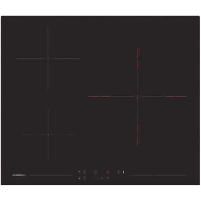 Rosieres - plaque de cuisson vitrocéramique 60cm 3 foyer 5600w noir - rh63tct - 1