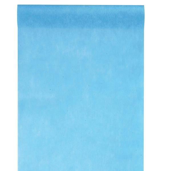 REF/5696- 1 Chemin de table in tissé bleu turquoise 30cm x 25m
