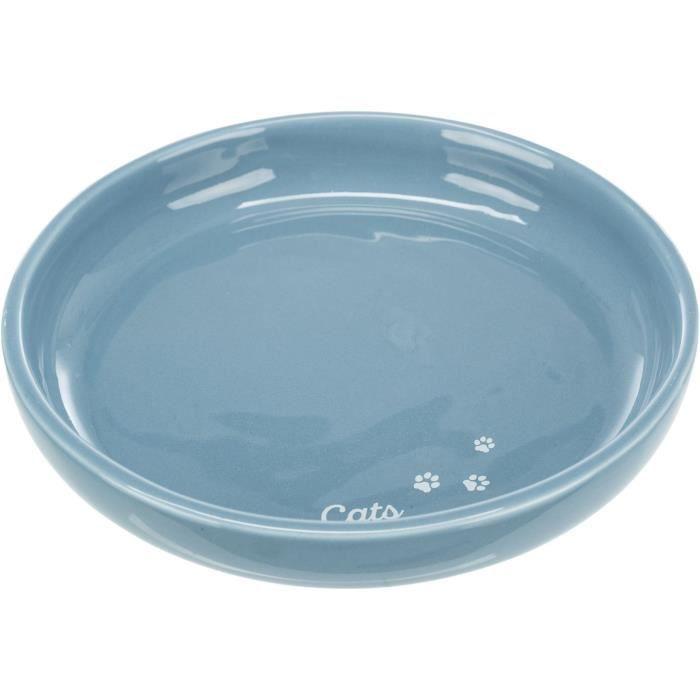 TRIXIE Gamelle plate en céramique - XXL - 0,35 l - Ø 18 cm - Pour chien