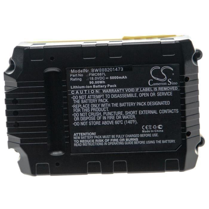 vhbw Batterie remplace Stanley FMC687L pour outil électrique (5000mAh Li-Ion 18V)