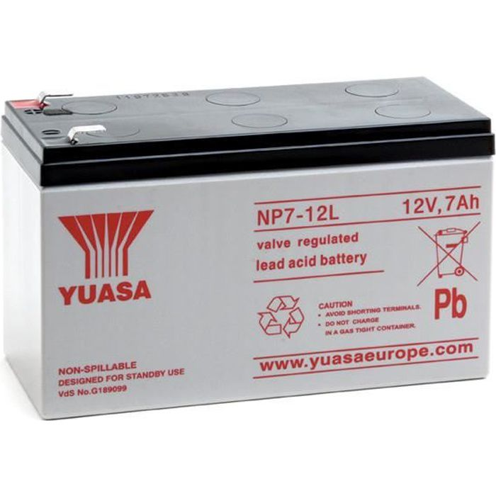 Batterie plomb AGM NP7-12L 12V 7Ah YUASA - Batterie(s)