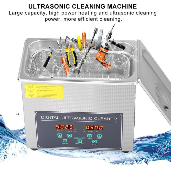 3L Nettoyeur à ultrasons numérique machine de nettoyage 220V HB015 -PAI