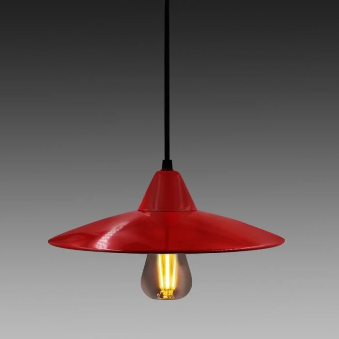 Suspension luminaires achat vente suspension for Luminaire suspension rouge