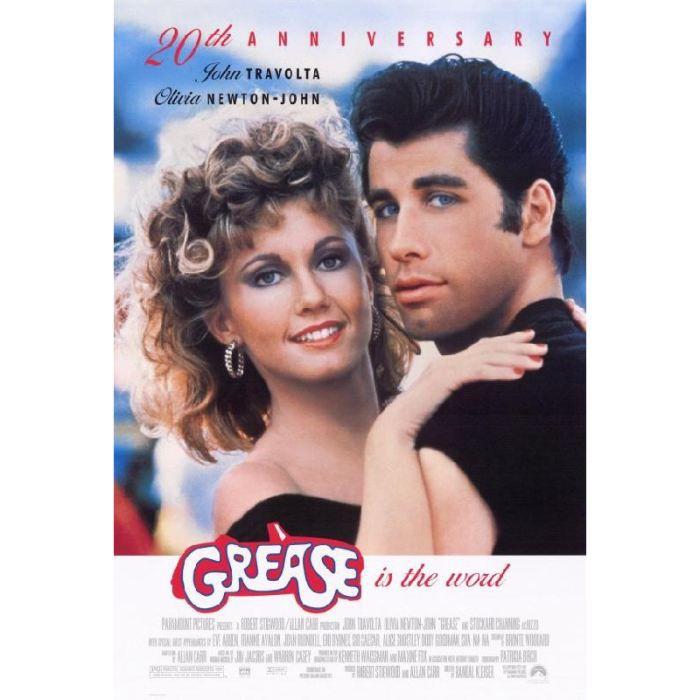 Affiche Du Film Grease 69 X 102 Cm Achat Vente Affiche Poster Soldes Sur Cdiscount Des Le 20 Janvier Cdiscount