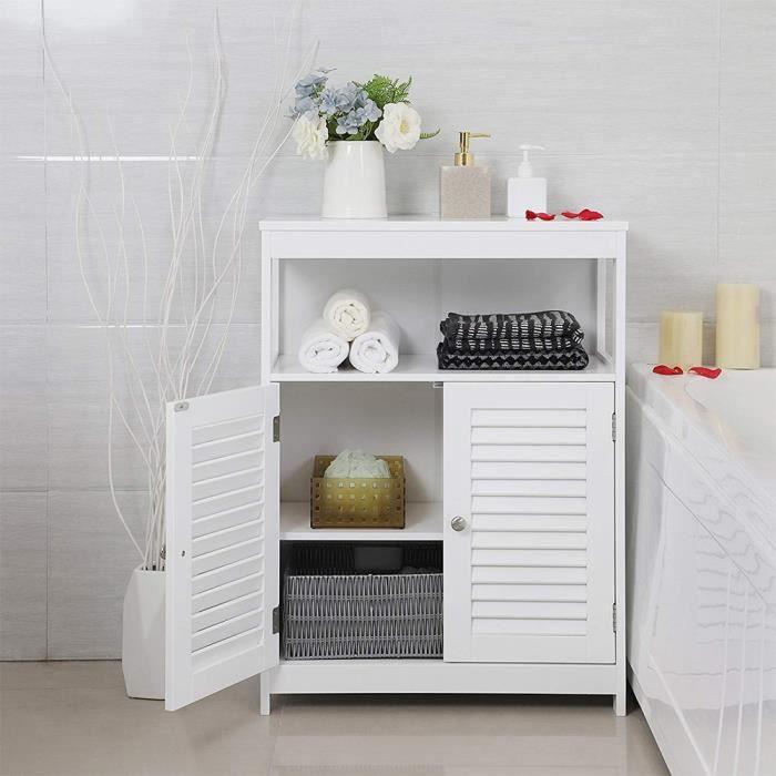 meuble bas de salle de bain armoire de rangement toilette 80 60 30cm
