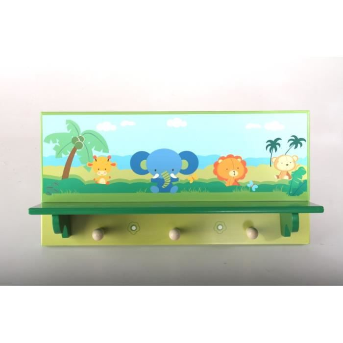 porte manteau mural enfant animaux 40 cm achat vente porte manteau cdiscount. Black Bedroom Furniture Sets. Home Design Ideas