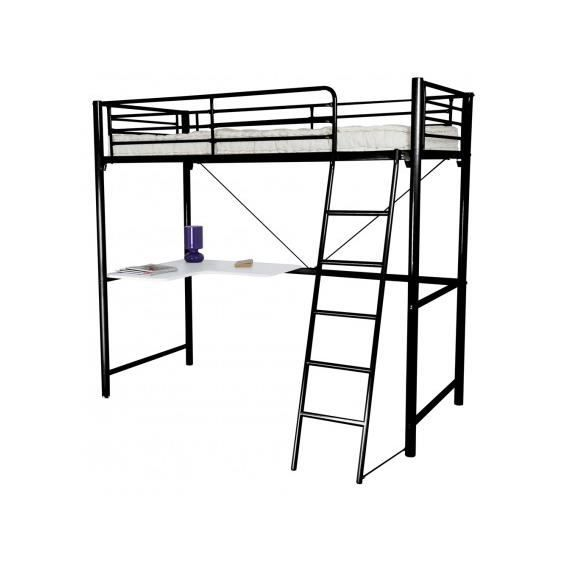 mezzo mezzanine 90x190 avec bureau achat vente lit. Black Bedroom Furniture Sets. Home Design Ideas