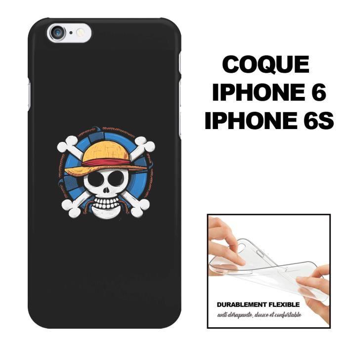 Coque iPhone 6 One Piece – Motif Manga, En Silicon