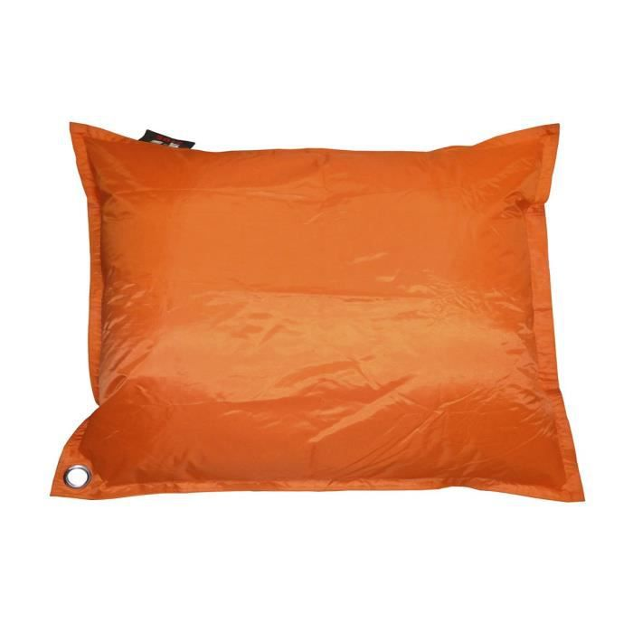 java pouf g ant imperm able 110x130 cm orange achat. Black Bedroom Furniture Sets. Home Design Ideas