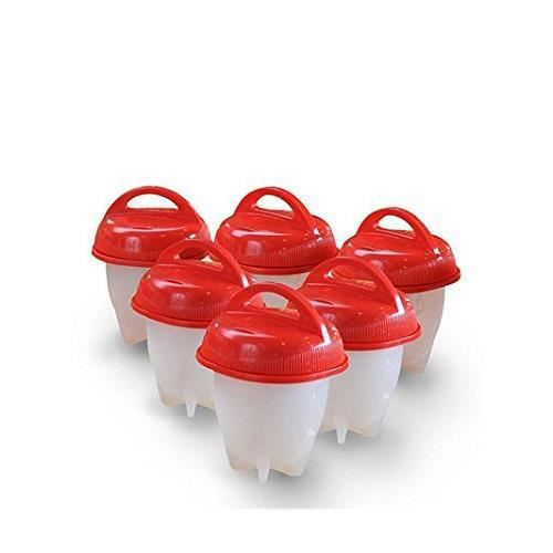 Lot de 4 moules anti-adh/ésifs en silicone pour /œufs et /œufs rose