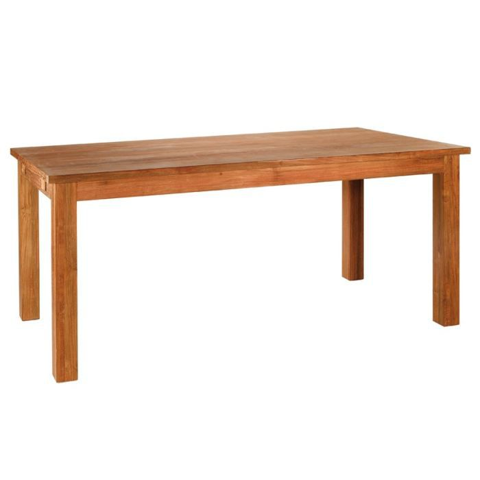 Table en teck recycl 180 cm 2 allonges 45cm majestic - Table en teck recycle ...