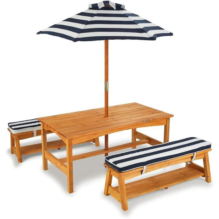 kidkraft table et bancs d 39 ext rieur avec parasol achat. Black Bedroom Furniture Sets. Home Design Ideas