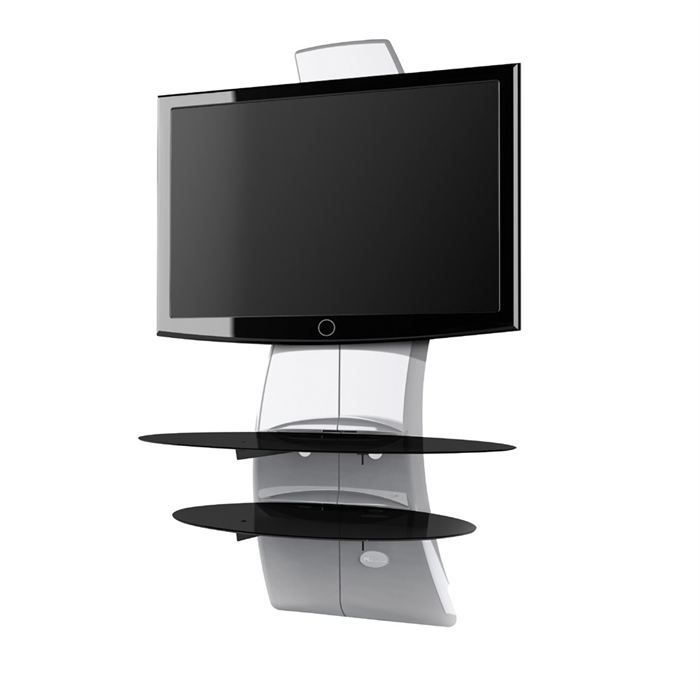 Ghost design 2000 meuble tv support 32 63 blanc meuble hifi int gr e prix pas cher for Meuble tv hifi integre