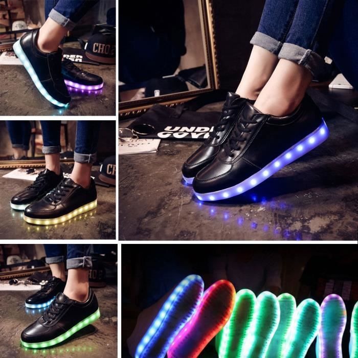 Chaussures Moonar® Led Homme Usb Femme Lovers Note Musicale roxCBedW