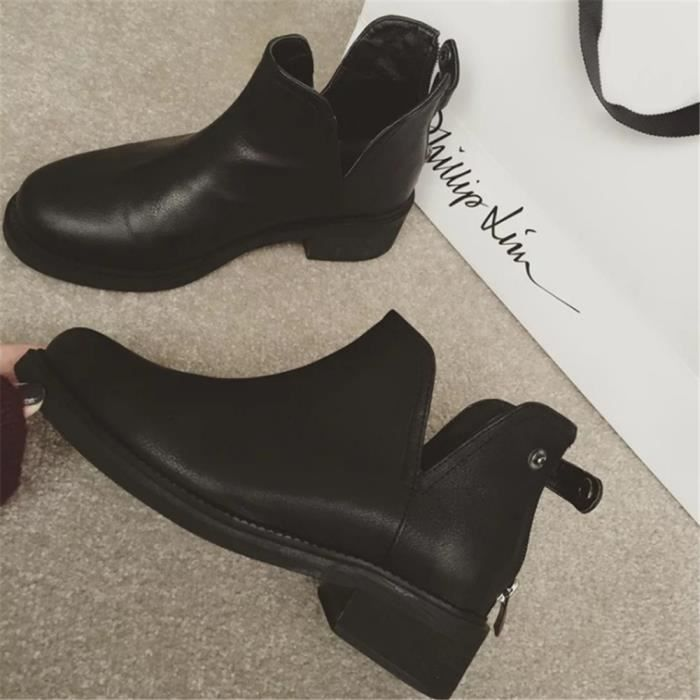 bottines femmes cuir personnalit beau el gant bottine 2018 hiver confortable classique. Black Bedroom Furniture Sets. Home Design Ideas