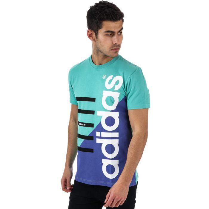 tee shirt adidas homme turquoise