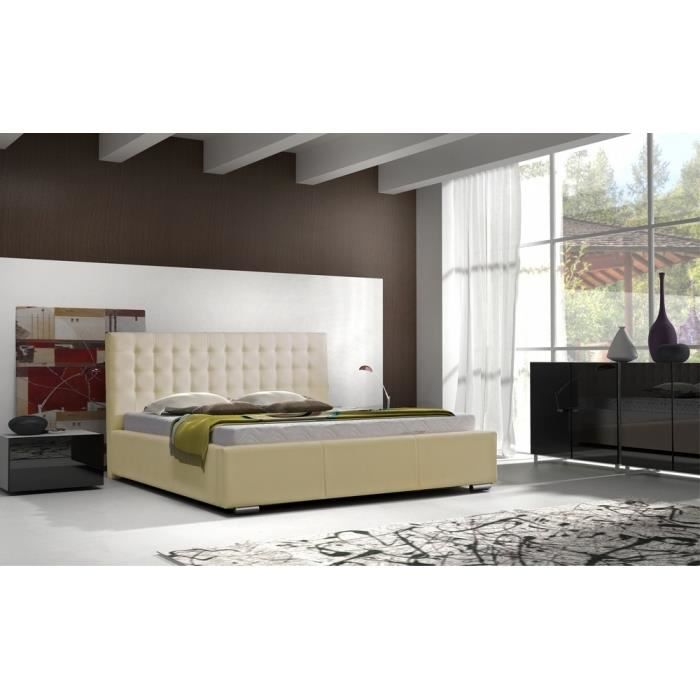lit capitonn celita 180x200 cm achat vente structure de lit cdiscount. Black Bedroom Furniture Sets. Home Design Ideas