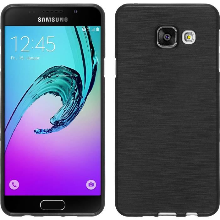 coque en silicone pour samsung galaxy a3 2016 brushed. Black Bedroom Furniture Sets. Home Design Ideas