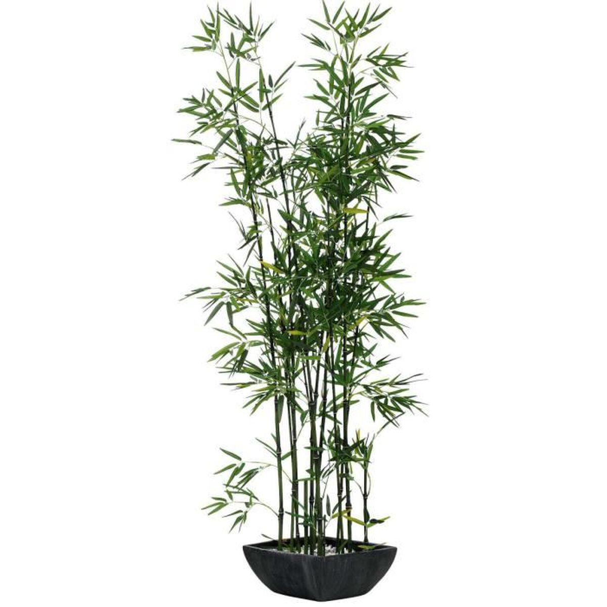 Pureday plante artificielle bambou avec pot en terre for Plante haute en pot